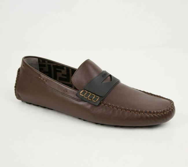Item - Brown Leather Mocassin Driver Loafers Uk 10/Us 11 7d1180 F00m5 Shoes