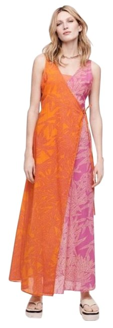 Item - Pink and Orange Long Casual Maxi Dress Size 0 (XS)