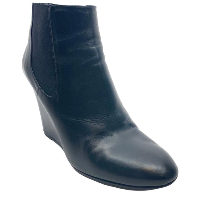 Item - Black Leather and Pearl Wedge Ankle Boots/Booties Size EU 37.5 (Approx. US 7.5) Regular (M, B)