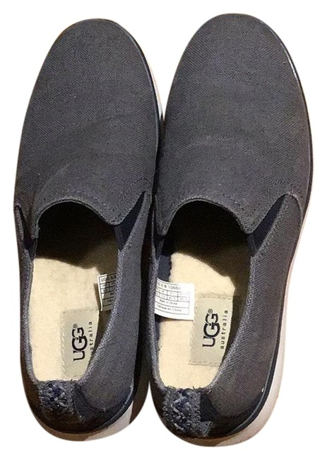 Item - Gray Slip Ons Flats Size US 8.5 Regular (M, B)