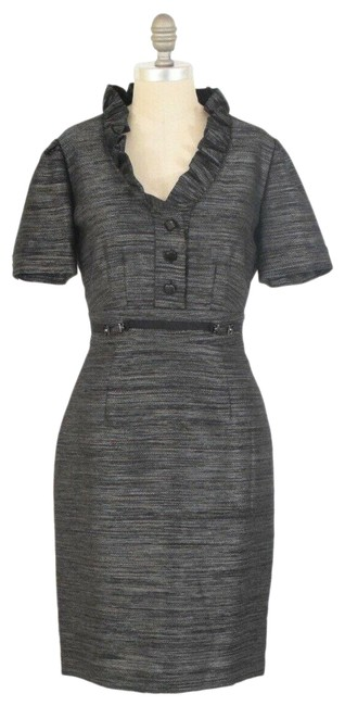 Item - Gray Collared Short Work/Office Dress Size 4 (S)