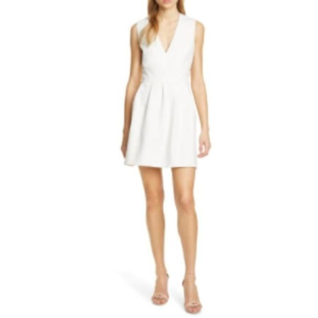 Item - White Cream Wilson Cutout Fit and Flare In Formal Dress Size 4 (S)