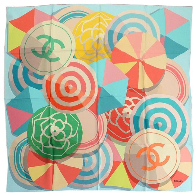 Item - Multicolor Rdc11070- Beach Ball/Umbrella Silk Scarf/Wrap