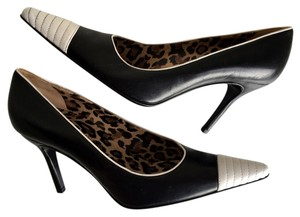 Dolce&Gabbana High Heel Spectator Cap Toe Two-tone Black Pumps