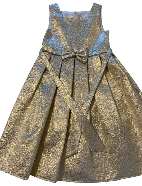 Item - Gold Kids Mid-length Formal Dress Size OS (one size)