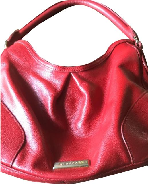 Item - Deep Red Leather. Made In Italy. Hobo Bag