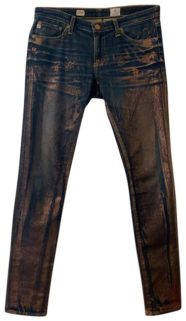 Item - Rose Gold Medium Wash Skinny Jeans Size 28 (4, S)