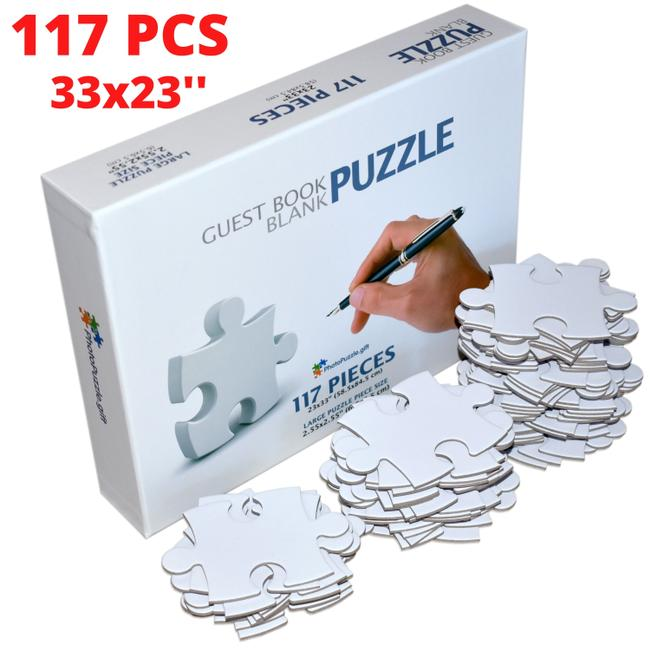 Blank Puzzle 23x33 Inches 117 Numbered Pieces Blank Puzzle 23x33 Inches 117 Numbered Pieces Image 1