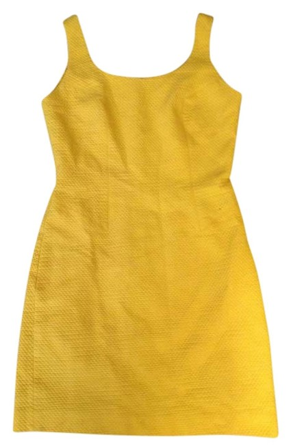 Preload https://item1.tradesy.com/images/yellow-vintage-six-simple-above-knee-workoffice-dress-size-6-s-279240-0-0.jpg?width=400&height=650