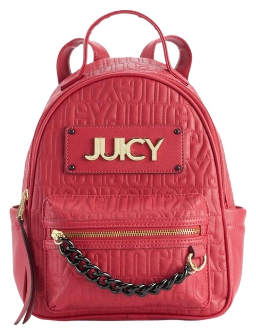 Item - Track Star Red Faux Leather Backpack