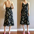 Reformation Black Dietrich Midi Floral Mid-length Short Casual Dress Size 0 (XS) Reformation Black Dietrich Midi Floral Mid-length Short Casual Dress Size 0 (XS) Image 4