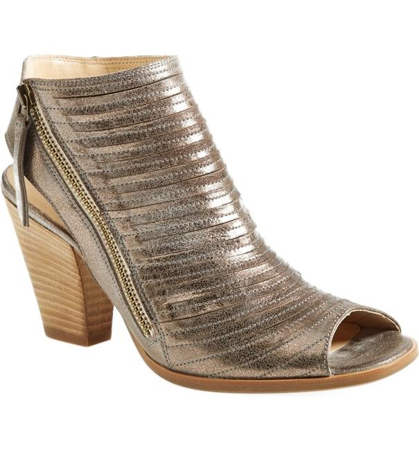 Item - Smoke Cayanne Leather Peep Bootie (2) (T1) Sandals Size US 8.5 Regular (M, B)