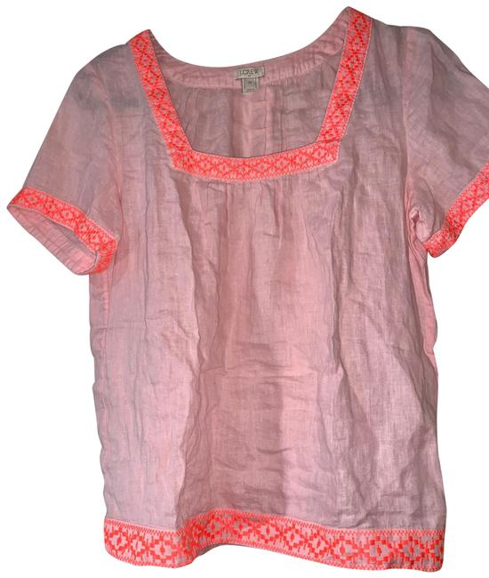 Item - Pink Linen Peasant Tunic Size 2 (XS)
