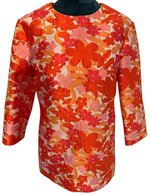 Item - Coral/Pink Brocade Tunic Size 4 (S)