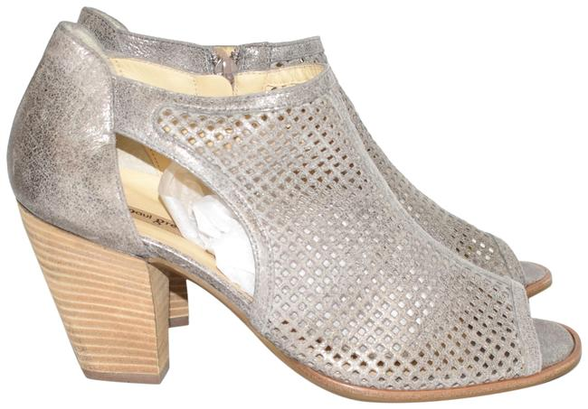 Item - Smoke Tianna Open Toe Chunky Bootie Leather (Pg5 Sandals Size US 9.5 Regular (M, B)