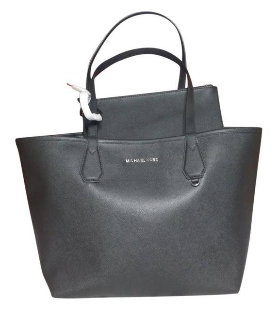 Item - Black Gray Reversible Tote Candy W Saige W/Pouch Luggage