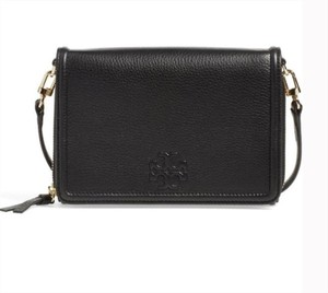 Tory Burch Black Thea Flat Wallet Leather Cross Body Bag Other
