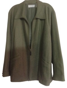 Liz Claiborne Green tweed Jacket