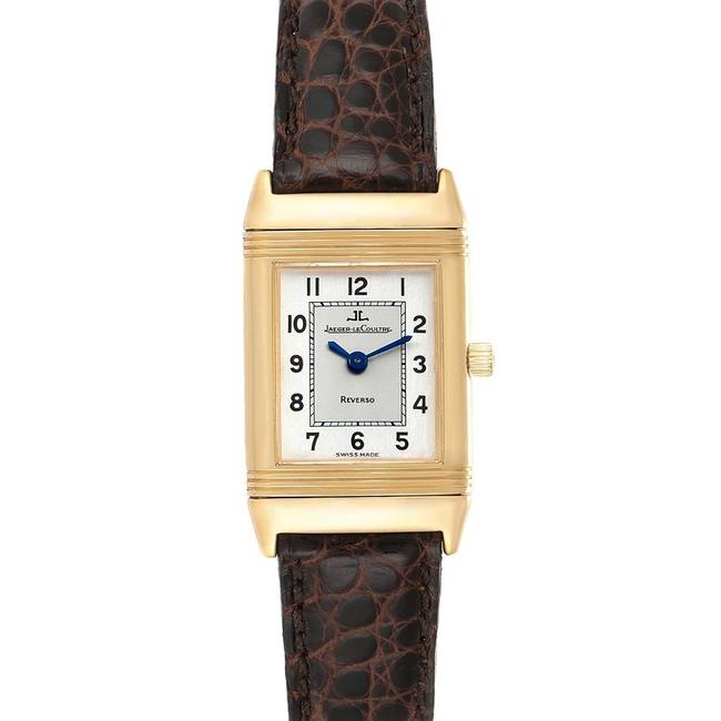 Item - Two-tone Silvered Reverso Classique 18k Yellow Gold Ladies Watch