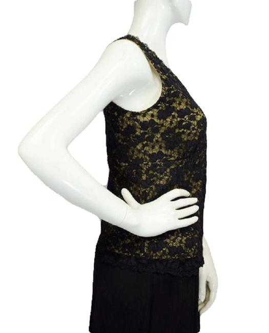 Item - Black Gold 80's Lace Small Sku 000025 Tee Shirt Size 8 (M)