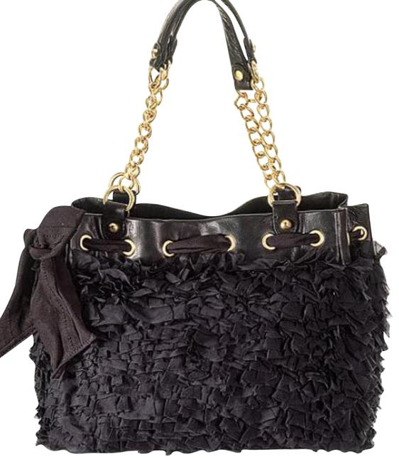 Item - Luxe Daydreamer Black Chiffon Hobo Bag