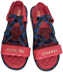 Item - Black Red Blue Cord Sandals