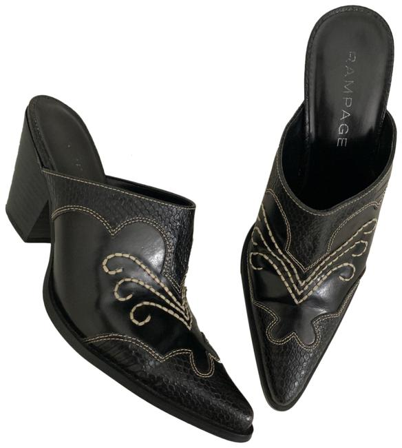Item - Black Rilley Western Embroidered Mule Boots/Booties Size US 8 Regular (M, B)