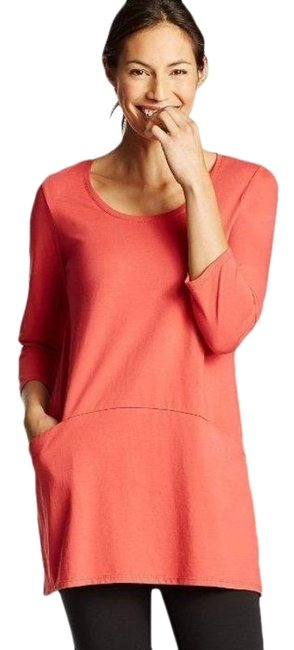 Item - Red Curved Seam Tunic Size 12 (L)