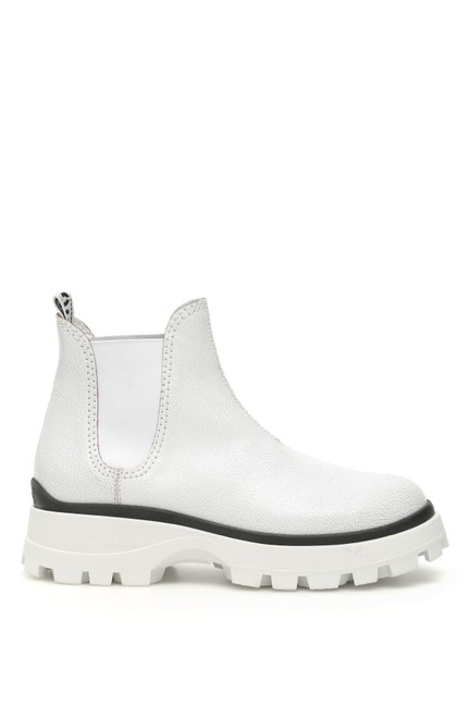 Item - White Crackle Boots/Booties Size EU 37 (Approx. US 7) Regular (M, B)