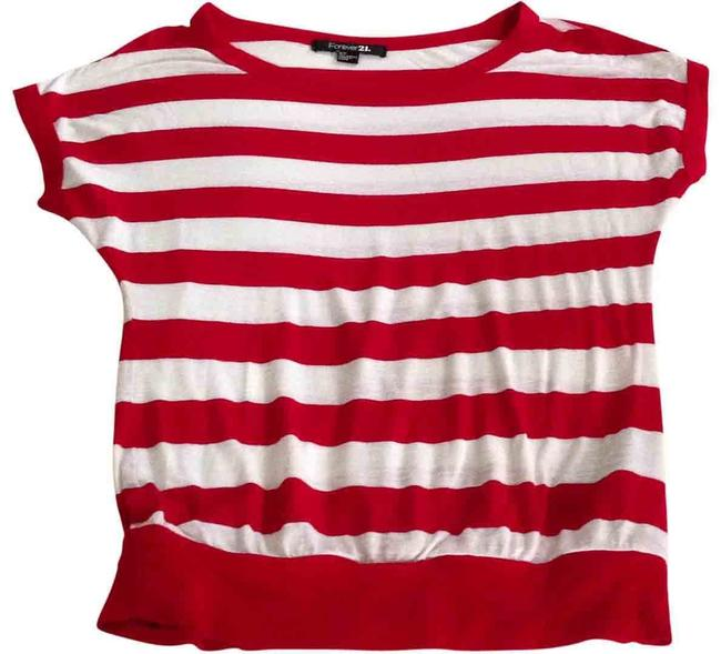 Preload https://img-static.tradesy.com/item/27928/forever-21-red-and-white-stripes-tee-shirt-size-4-s-0-0-650-650.jpg