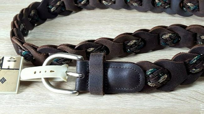 Item - Brown Womens Braided Leather 3013 Nwts L34bb17 Belt