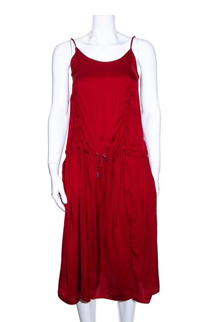 Item - Red Sleeveless Mid-length Short Casual Dress Size 2 (XS)