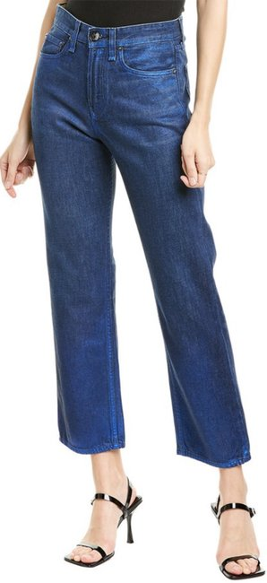 Item - Blue Coated Maya High-rise Ankle Foil Straight Leg Jeans Size 26 (2, XS)