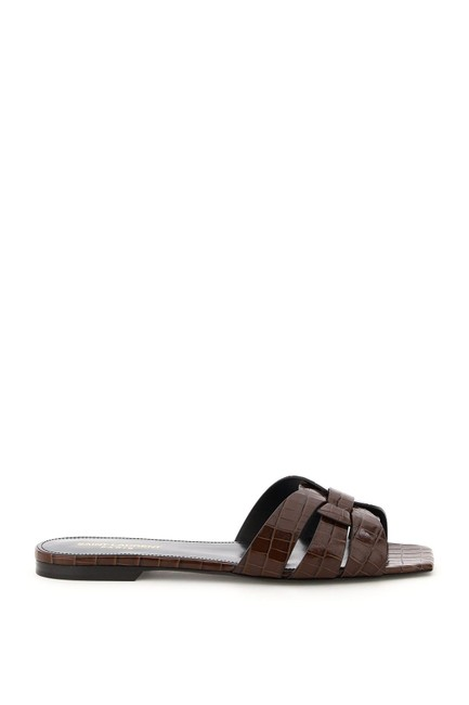 Item - Brown Nu Pieds Croco Print Mules/Slides Size EU 35 (Approx. US 5) Regular (M, B)