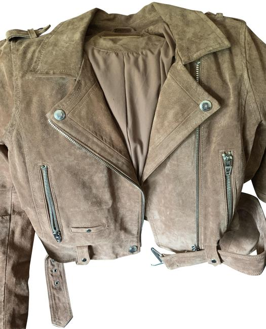 Item - Coffee Bean Morning Suede Moto Jacket Size 8 (M)