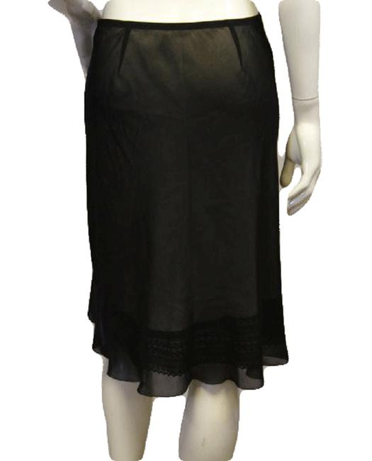 Item - Black See Through Chiffon with Lining (Sku 000004) Skirt Size 6 (S, 28)