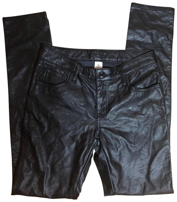 Item - Black Coated Nwot-sz Faux Leather Skinny Jeans Size 6 (S, 28)
