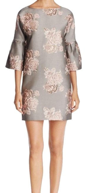 Item - Gray Pink Sheath Belle Sleeves Short Night Out Dress Size 8 (M)
