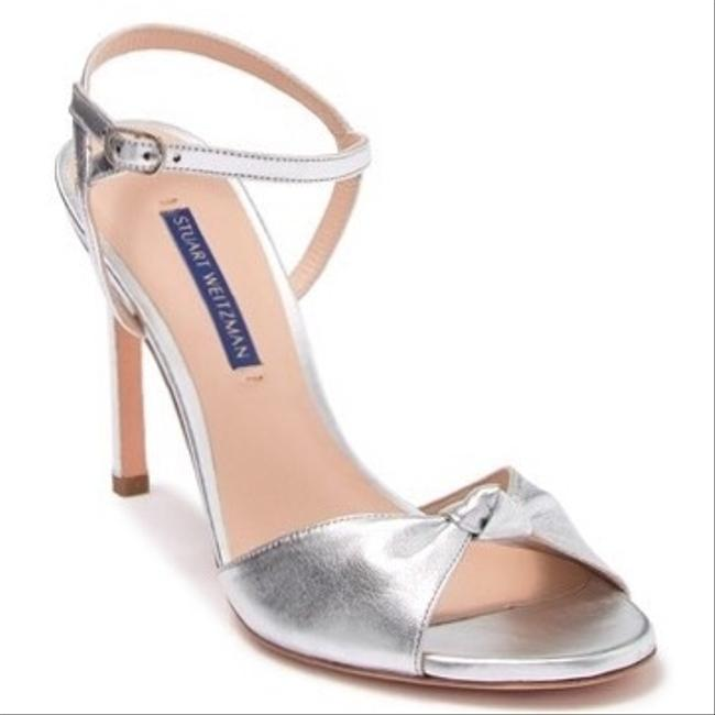 Item - Silver Gloria Knotted Leather Sandals Size US 8 Regular (M, B)