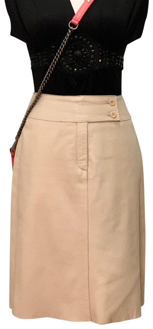 Item - Ivory Leather Skirt Size 4 (S, 27)