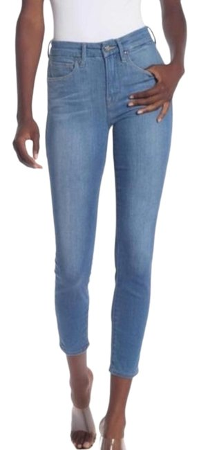 Good American Blue Light Wash Legs Crop Skinny Jeans Size 24 (Plus 2x) Good American Blue Light Wash Legs Crop Skinny Jeans Size 24 (Plus 2x) Image 1