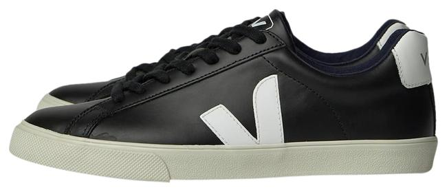 Item - Black Two-tone Contrast Leather Sneakers Size EU 37 (Approx. US 7) Regular (M, B)