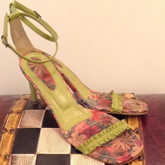 Bruno Valenti Lime Green Sandals