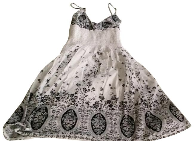 Other short dress White and Black Floral on Tradesy
