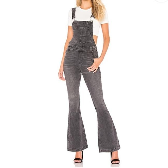 Item - Black Gray Carly Overall In Greyed Out Flare Leg Jeans Size 29 (6, M)