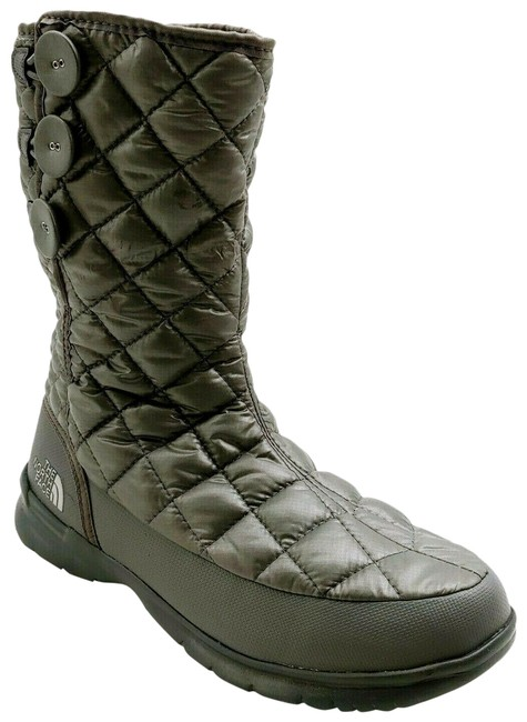 Item - Gray Womens Quilted Mid Calf Winter Boots/Booties Size US 8 Regular (M, B)