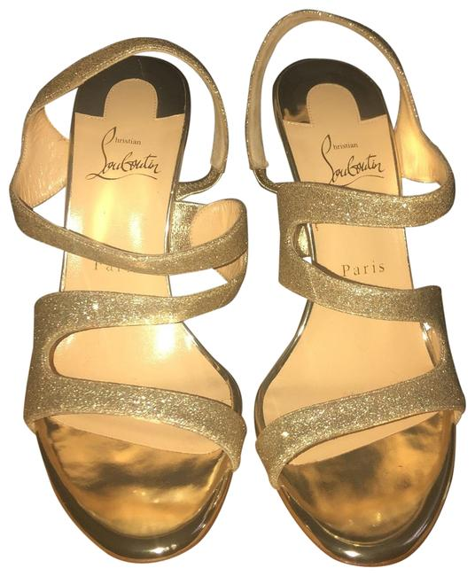 Item - Platine/Light Gold Vavazou 100 Glitter Tonic/Specchio Formal Shoes Size EU 39 (Approx. US 9) Narrow (Aa, N)