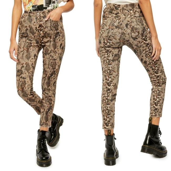 Item - Brown Multi Medium Wash Two Faced Snakeskin High Rise Jeggings Size 27 (4, S)