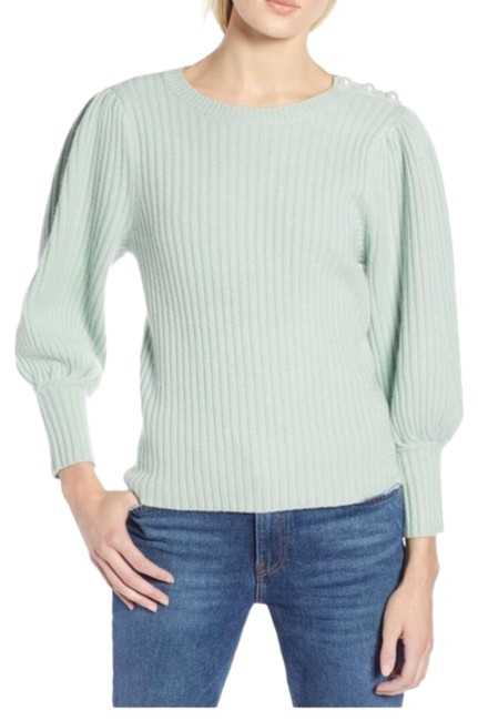 Item - Atlantic Pacific Cashmere Puff Sleeve Green Sweater