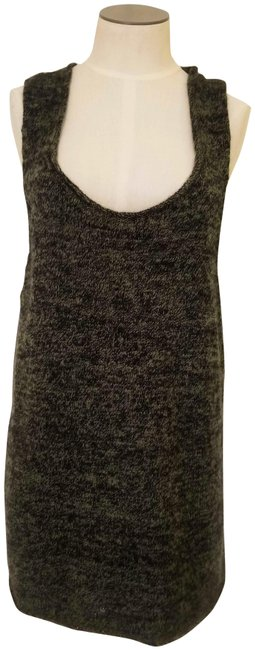 Item - Olive Green Marled Long Cashmere Sweater Vest Tank Top/Cami Size 12 (L)
